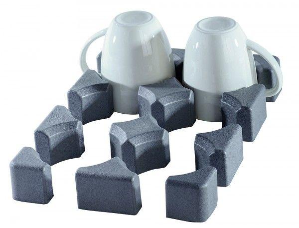 Purvario 6er Glas-/Tassenhalter niedrig