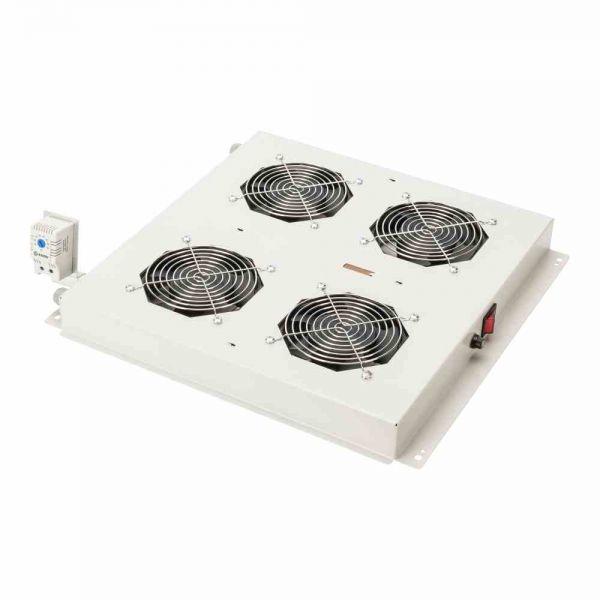 UN Dachlüfter 4xLüfter+ Thermostat, lgr f. Netzw.