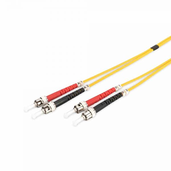 ST-ST Patchkabel, OS2 1m 09/125µ duplex gelb LS0H