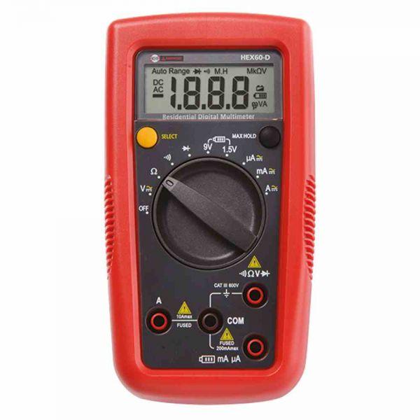 Multimeter digi man/auto 600VAC/1mV