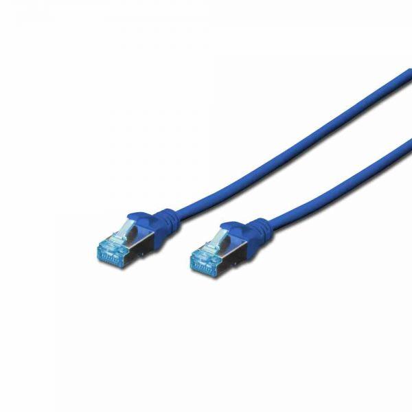 CAT 5e Patchk. blau 0,5m SF-UTP, PVC, AWG 26/7