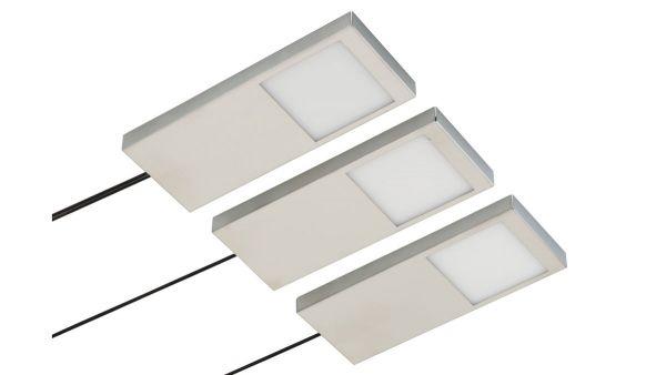 Rolux Unterbauleuchten Leuchten - Modell: DF-1820, 3er Set, Zentralschalter-Form: Rechteckig-3x 4W -