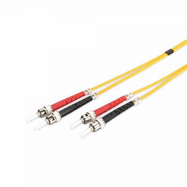 ST-ST Patchkabel, OS2 10m 09/125µ duplex gelb LS0H
