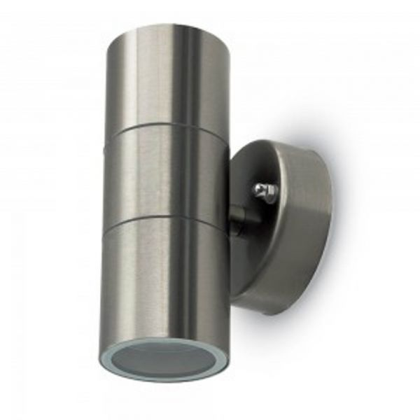 Wandleuchte V-Tac VT-7622 GU10 WALL FITTING,STAINLESS STEEL BODY- 2 WAY IP44