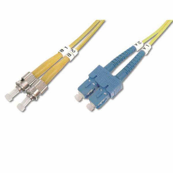 ST-SC Patchkabel, OS2 1m 09/125µ duplex gelb LS0H