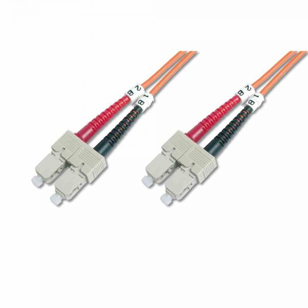 SC-SC Patchkabel, OM2 10m 50/125µ duplex orange