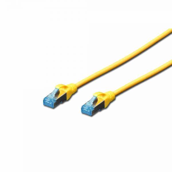 CAT 5e Patchk. gelb 0,5m SF-UTP, PVC, AWG 26/7