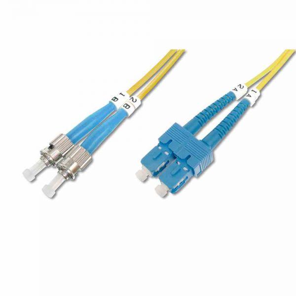 ST-SC Patchkabel, OS2 2m 09/125µ duplex gelb LS0H