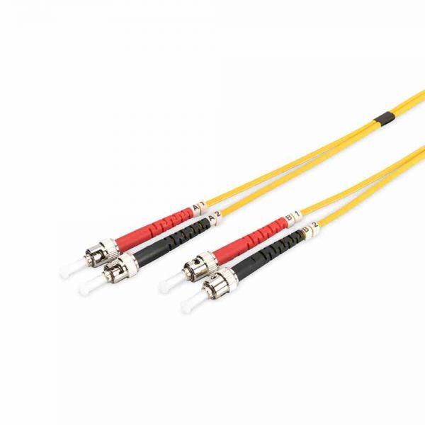 ST-ST Patchkabel, OS2 5m 09/125µ duplex gelb LS0H