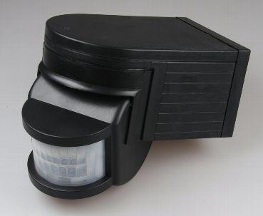 """Aufputz Bewegungsmelder Heitronic """"CBM"""" 180° IP44, 10-1000W, schwarz"""