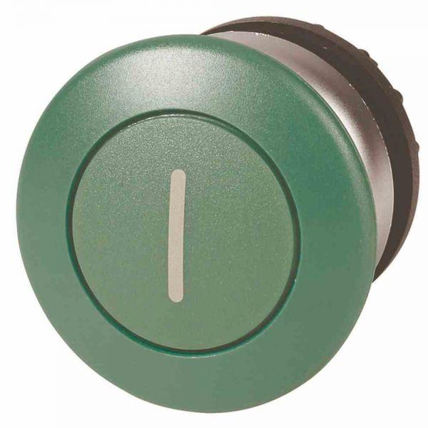 Frontelement für Not-Aus Ø22,5mm gn rnd IP67 fl