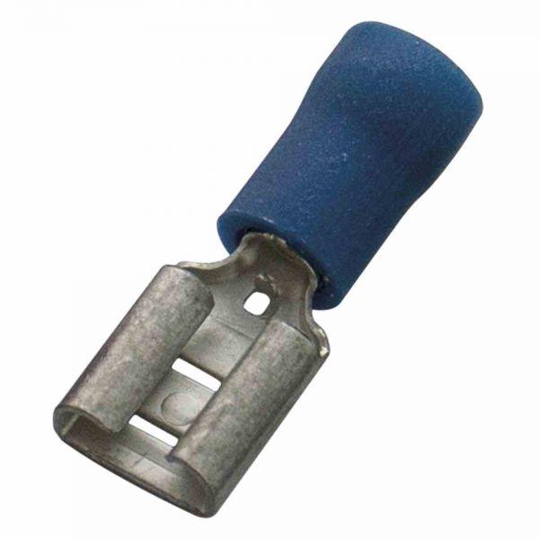 Flachsteckhülse Ms bl 1,5-2,5qmm fl_6,3x0,8mm