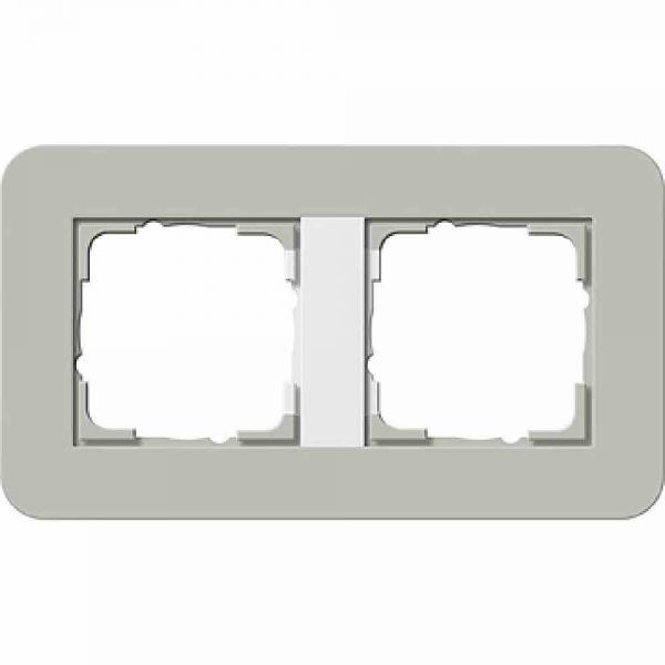 E3 Rahmen 2f grau/weiß Kunststoff