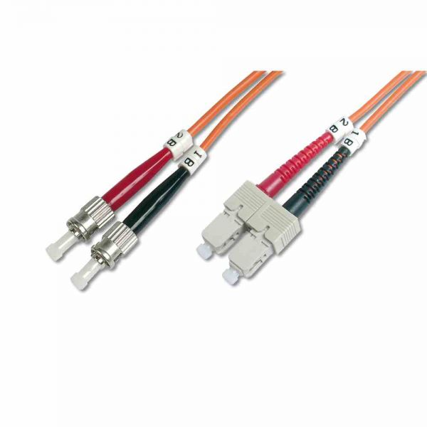 ST-SC Patchkabel, OM2 1m 50/125µ duplex orange