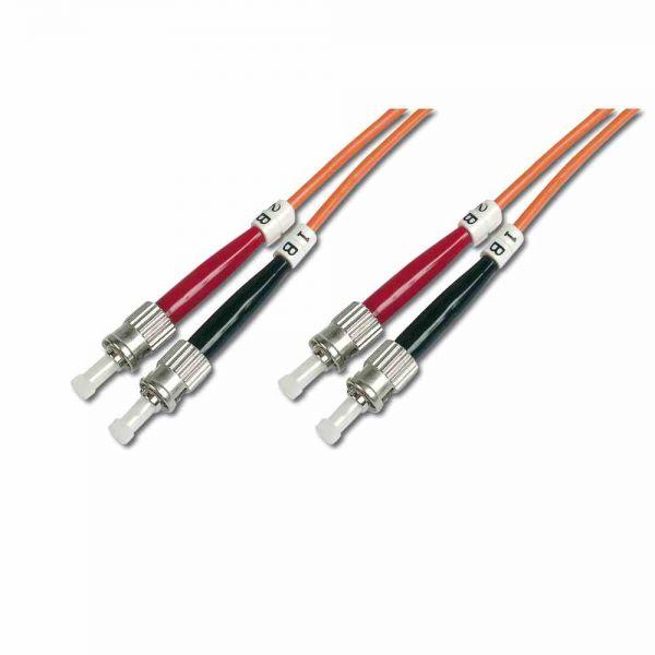 ST-ST Patchkabel, OM2 3m 50/125µ duplex orange