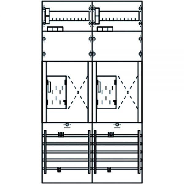 Komplettfeld 2Z eHZ 4V m.Verdr 900x500mm 5p