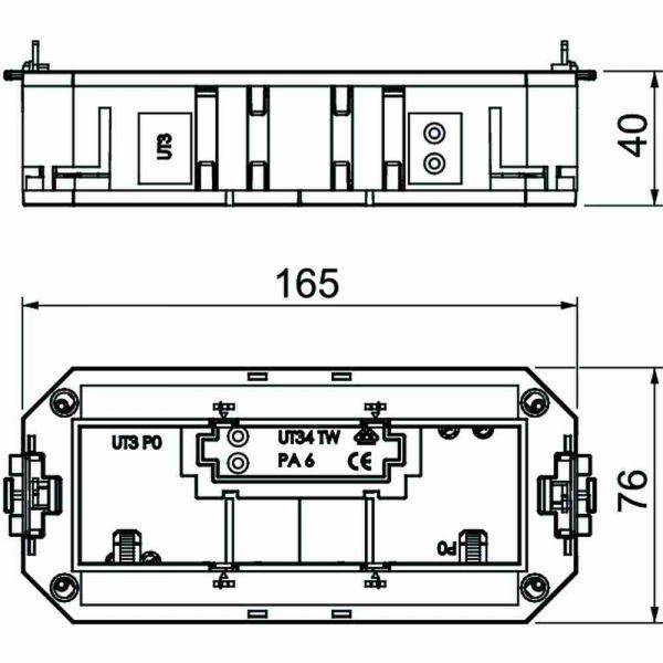 Gerätebecher 3f PA 165x76x40mm 2Zugentl