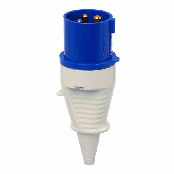 CEE-Stecker 3p 16A IP44 230V/bl 6h Schraubkl ger