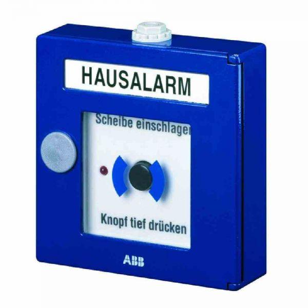 Handmelder Hausalarm Alu-Druckguss, LED, bl