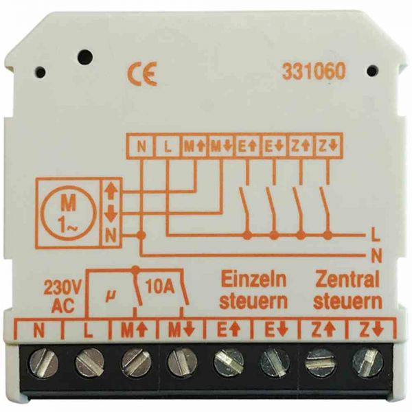 Mehrfachsteuergerät 230 V, Up-Ausführung,