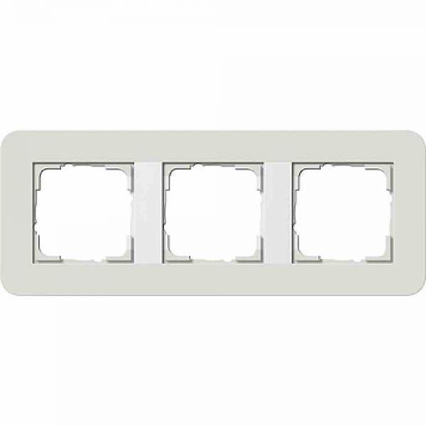 E3 Rahmen 3f hellgrau/ weiß Kunststoff