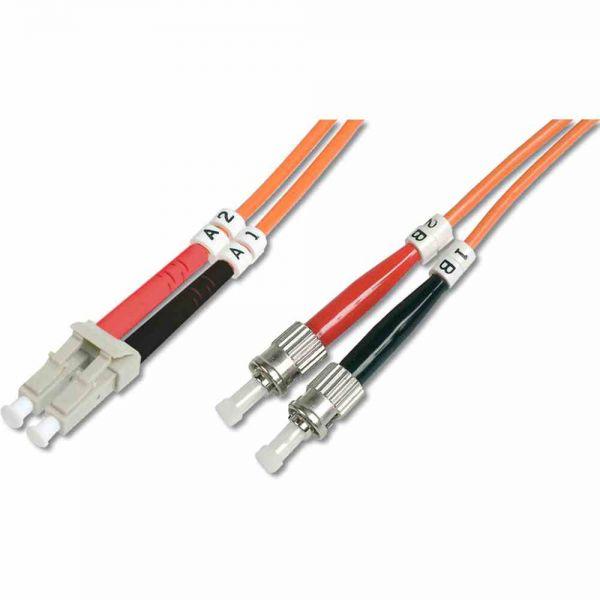 LC-ST Patchkabel, OM2 10m 50/125µ duplex orange