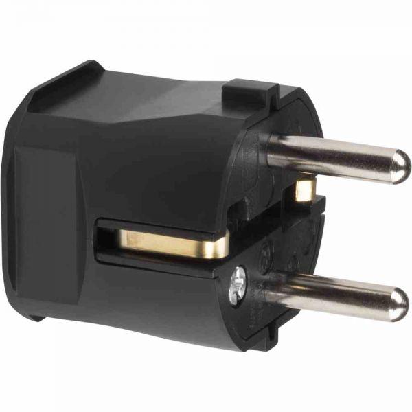 Schutzkontakt-Stecker Kst IP20 ger sw