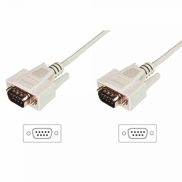 Serielles Kabel,D-Sub9 3m AWG28, St St beige