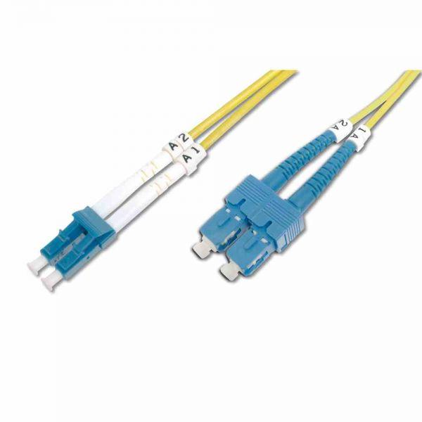 LC-SC Patchkabel, OS2 5m 09/125µ duplex gelb LS0H