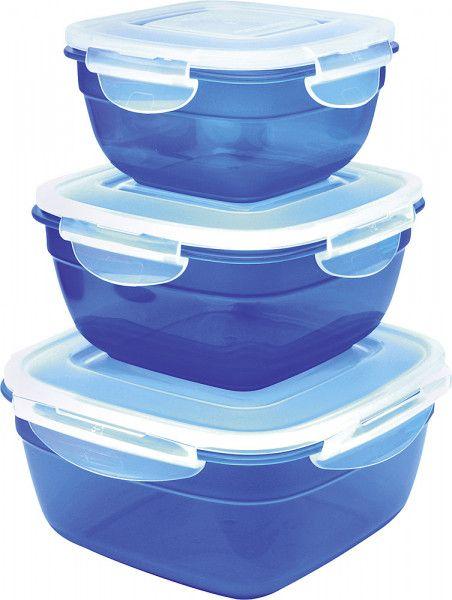 Isi Frischhaltebox-Set quadratisch 3-tlg. blau