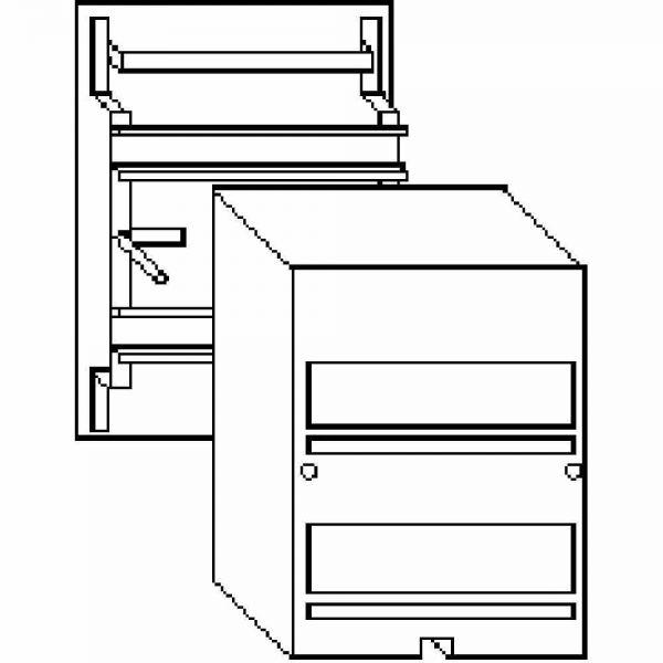 Kleinverteiler AP 2x11TE Kst IP30