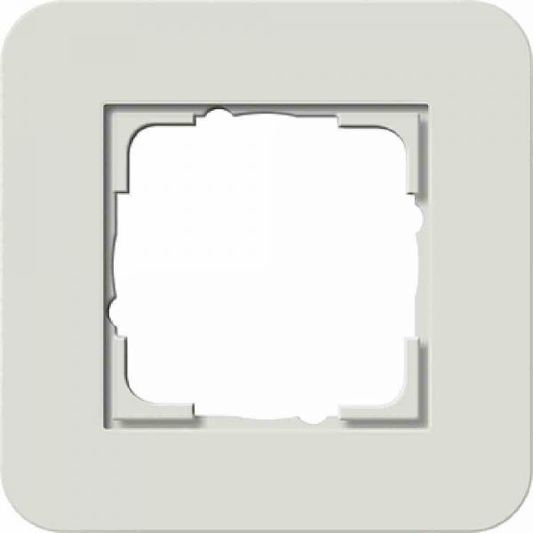 E3 Rahmen 1f hellgrau/ weiß Kunststoff