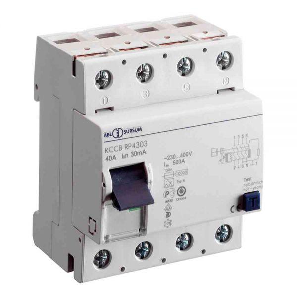 FI-Schutzschalter A 4p 400V 40A 0,5A 4TE REG