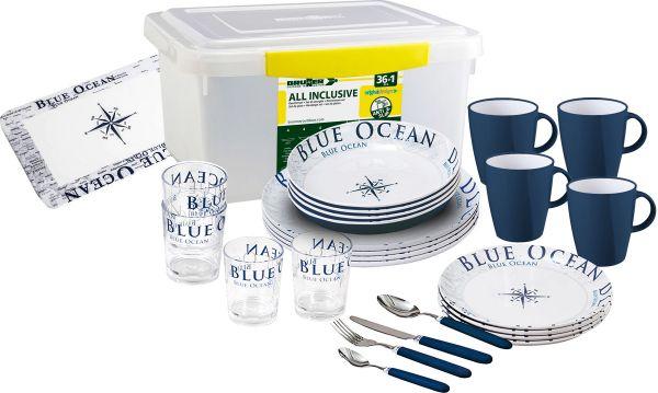 Geschirr Set Brunner All Inclusive Blue Ocean Antislip
