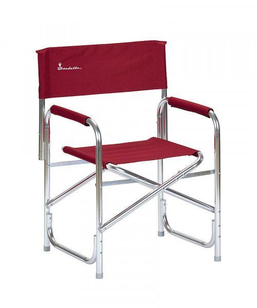 Isabella Directors Leichte Aluminium-Regiestuhl–Rot