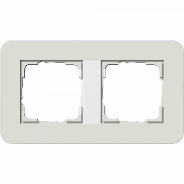 E3 Rahmen 2f hellgrau/ weiß Kunststoff