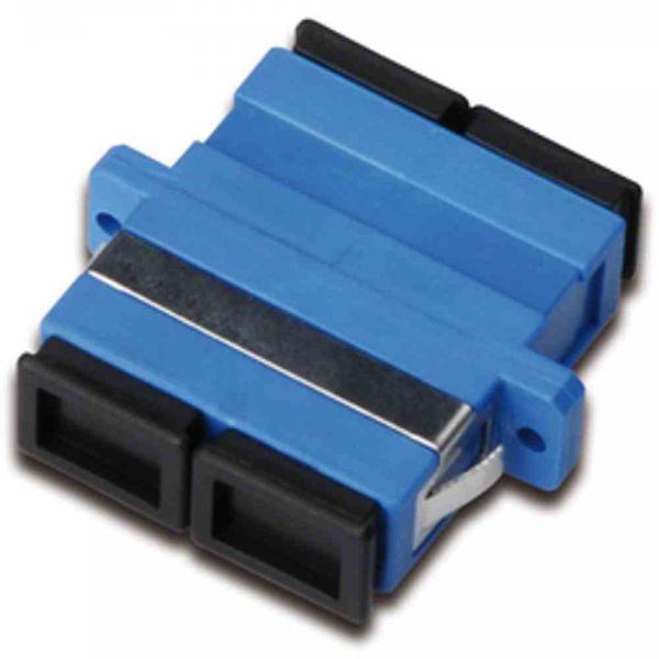 LWL-Kupplung SC-D/SC-D SM Keramik-Hülse, blau