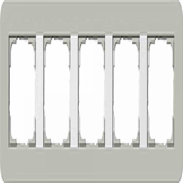 E3 Rahmen 5f grau/weiß Kunststoff