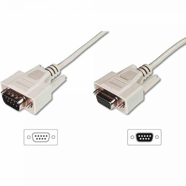 Verl.-Kabel 5m DSUB St-Bu 9-pin, einfach geschirmt