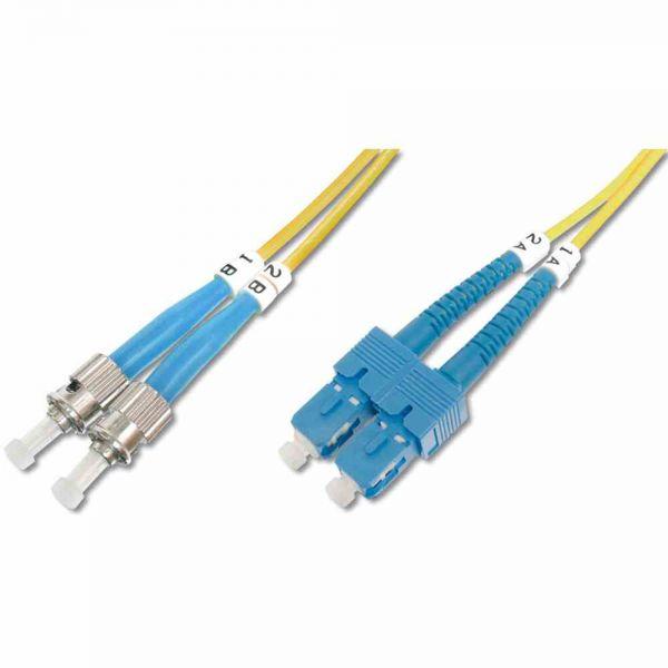 ST-SC Patchkabel, OS2 10m 09/125µ duplex gelb LS0H