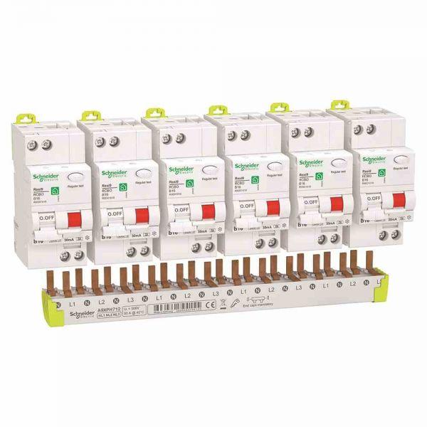 FI/LS-Schutzschalter 1p+N B10 0,03A 230V A 6kA 2TE