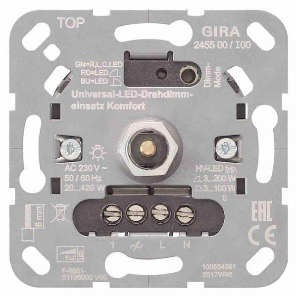 Dimmer Dreh/Druckkn LED UP Universal