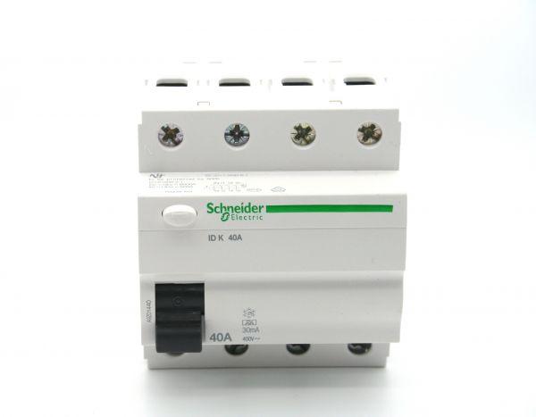 Schneider FI-Schalter 4P 40A 30mA Typ A A9Z01440