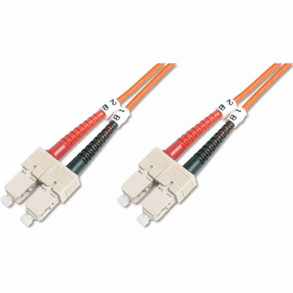 SC-SC Patchkabel, OM2 3m 50/125µ duplex orange