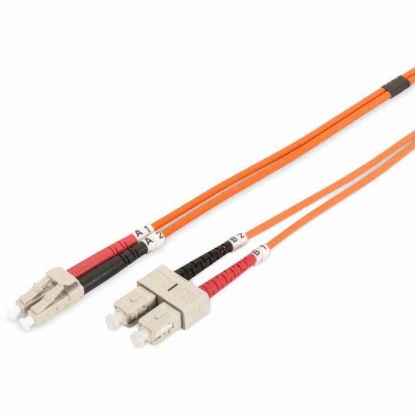 LC-SC Patchkabel, OM2 10m 50/125µ duplex orange