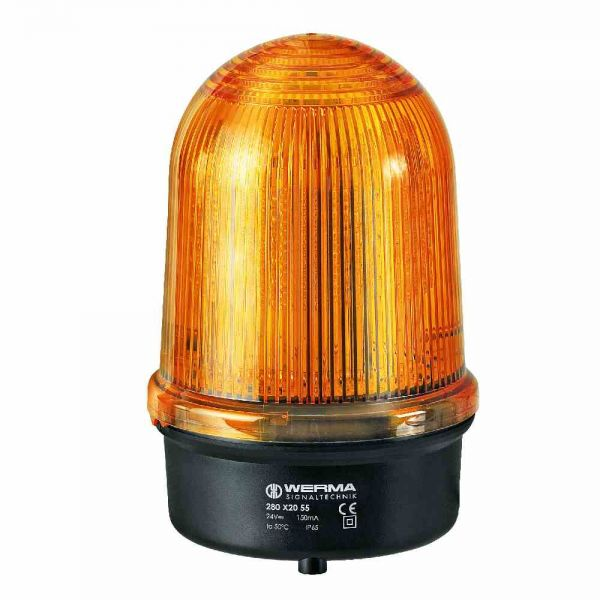 LED-Doppelblitzleuchte BM 115-230V AC YE