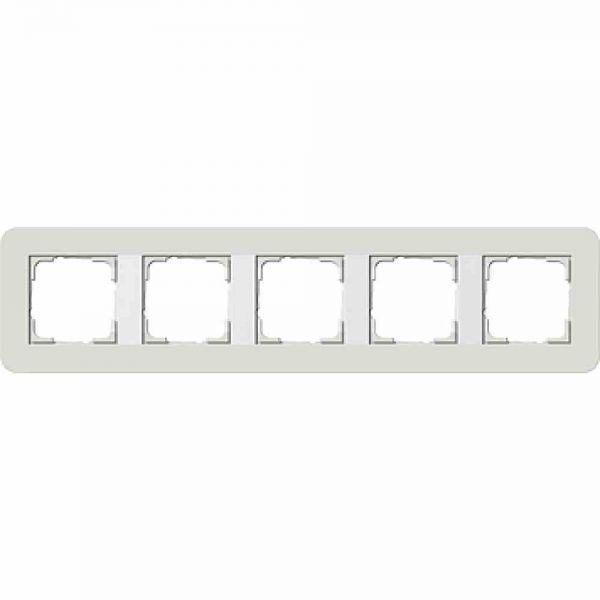 E3 Rahmen 5f hellgrau/ weiß Kunststoff