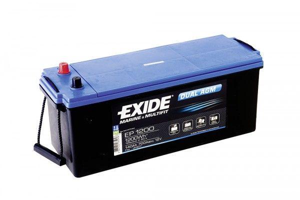 Exide Batterie EP1200 Dual Agm 12V 140AH 700A