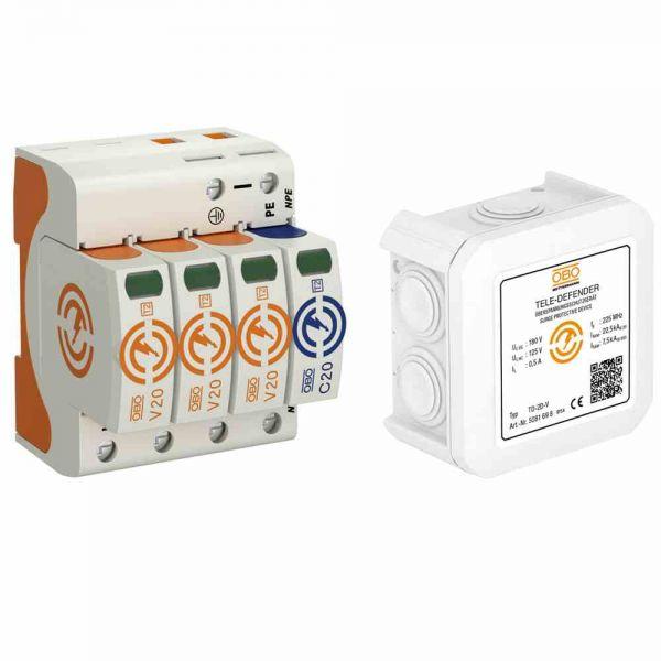Überspannungsschutzpaket1 Energie Te,OBOX-WG T2+TK