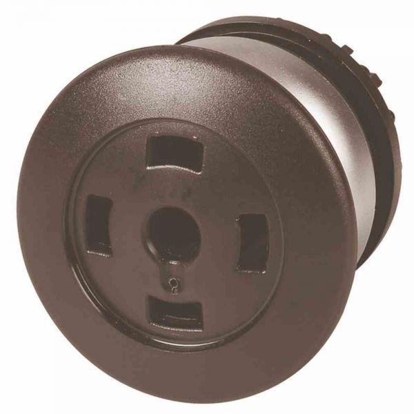 Frontelement für Not-Aus Ø22,5mm sw rnd IP67 fl